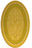 rug #1307323 | oval yellow traditional rug
