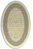 rug #1307331 | oval yellow borders rug