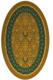rug #1307335 | oval light-orange damask rug