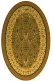 rug #1307337 | oval damask rug