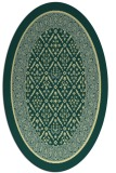 rug #1307339   oval yellow traditional rug