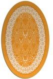 rug #1307363 | oval light-orange damask rug