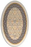 rug #1307367 | oval light-orange damask rug