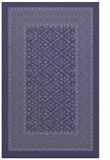 rug #1307459 |  blue-violet borders rug