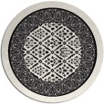 rug #1307743 | round black traditional rug
