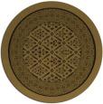 rug #1307759 | round black damask rug