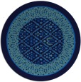 rug #1307771 | round blue traditional rug