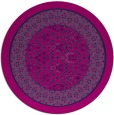 rug #1307775 | round blue traditional rug