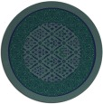 rug #1307779 | round blue borders rug