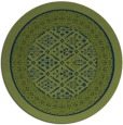 rug #1307783 | round blue traditional rug