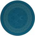 rug #1307791   round blue-green borders rug