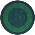 rug #1307803 | round blue borders rug