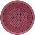 rug #1307831 | round pink traditional rug