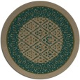 rug #1307851 | round brown borders rug