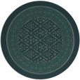 rug #1307871 | round blue-green borders rug