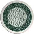 rug #1307875 | round blue-green borders rug
