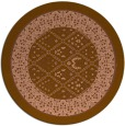 rug #1307891 | round mid-brown damask rug
