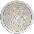 rug #1307903 | round mid-brown damask rug