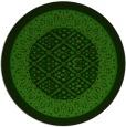rug #1307947 | round green damask rug