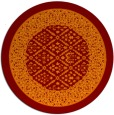 rug #1307951 | round orange damask rug
