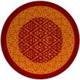 rug #1307951 | round red-orange borders rug