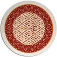 rug #1307955 | round orange damask rug