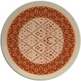 rug #1307959 | round beige borders rug