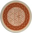 rug #1307959 | round orange traditional rug