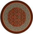 rug #1307963 | round red-orange traditional rug