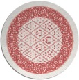 rug #1307979 | round white traditional rug