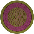 rug #1307987 | round green damask rug