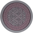 rug #1307995 | round purple damask rug