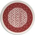 rug #1308007 | round red damask rug