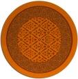 rug #1308015 | round red-orange traditional rug