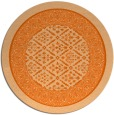 rug #1308019 | round red-orange damask rug