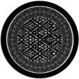 rug #1308031 | round white borders rug