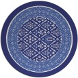 rug #1308039 | round blue traditional rug