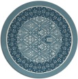 rug #1308051 | round white traditional rug