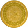 rug #1308059 | round yellow borders rug