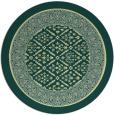 rug #1308075 | round yellow damask rug