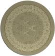 rug #1308083 | round light-green damask rug