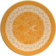 rug #1308099 | round light-orange traditional rug