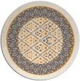 rug #1308103 | round light-orange traditional rug
