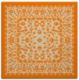 rug #1308475 | square orange damask rug