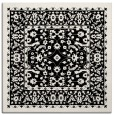 rug #1308479 | square black damask rug