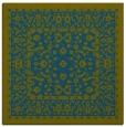 rug #1308551 | square blue-green damask rug