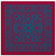 rug #1308595 | square blue-green borders rug