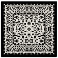 rug #1308623 | square black damask rug