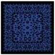 rug #1308679 | square black damask rug