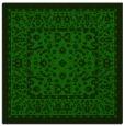 rug #1308683 | square green borders rug